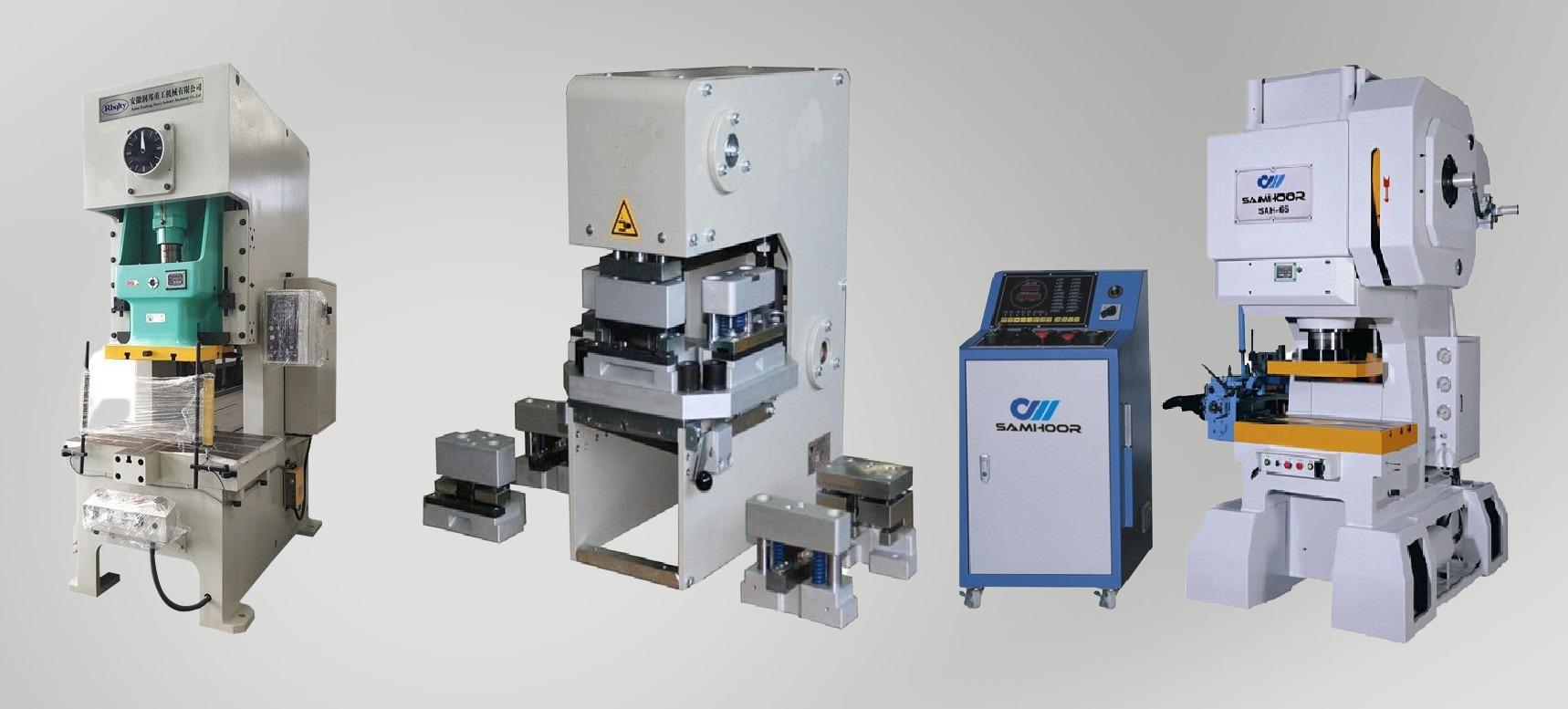 Щанцови и пневматични преси - 25t / 45t / 63t /160 t - Със сменяеми инструментални плочи, произведени според нуждите на клиента за серийно производство