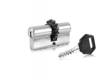Ключалка двустранна със зъбно колело
