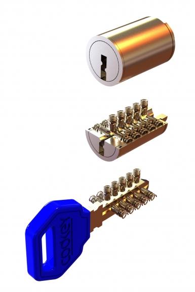 Висока степен  на сигурност и секретност 15 000 000 възможни комбинации.  Ключалките се изпълняват от 15 броя кодиращи пина, подредени в три оси в спирална система.  Кодирането е цифрово – програмно в системи Codkey или Locksys.